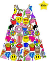 Emoji Love White Kids Dress