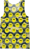 """Smiley Green Camo"" Tank Top"