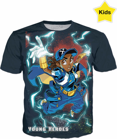 Young Heroes: Unlimited (Limited Edition Kids Shirts)- Static Shock