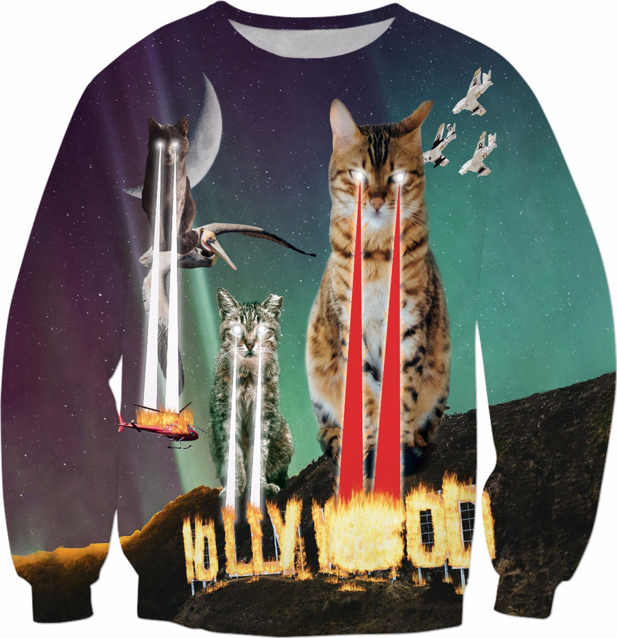 Cats Destroy Hollywood Sweatshirt