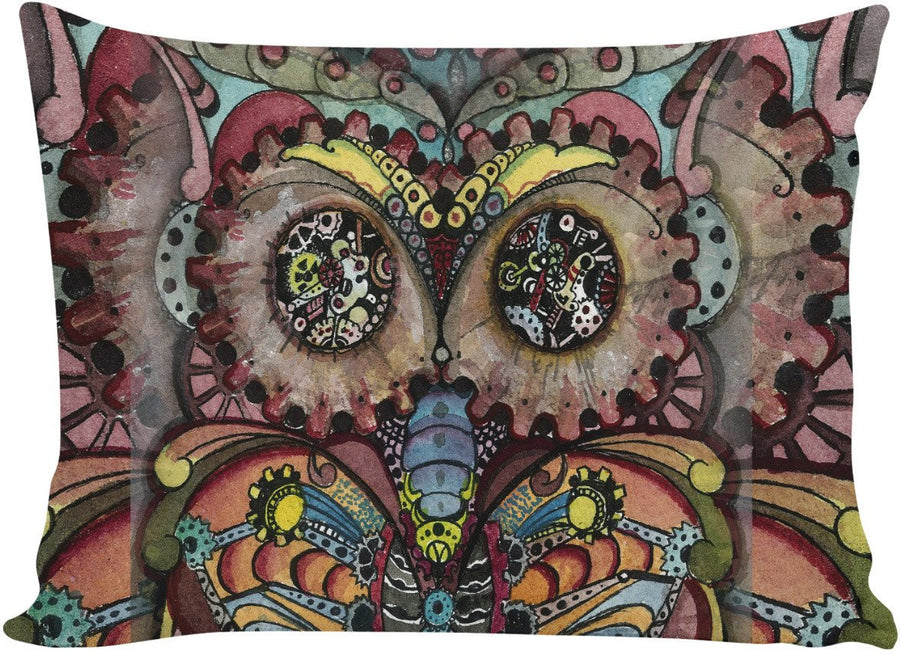 Steampunk Owl Pillow Case