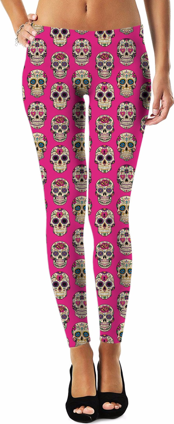 Sugar Skulls Pattern Leggings