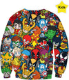 MVTRTK SUPER HEROES Kids Sweatshirt