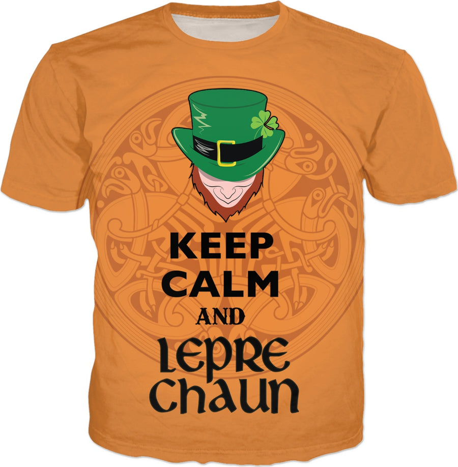 Keep Calm and Leprechaun Orange T-Shirt