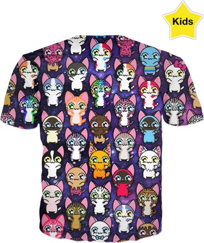 MVTRTK SPACE KITTY Kids T-Shirt