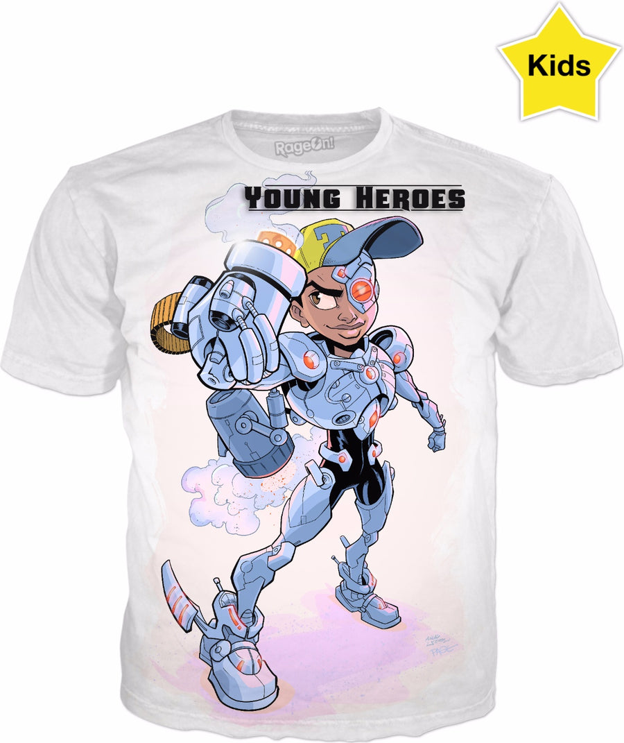 Young Heroes: Unlimited (Limited Edition Kids Shirts)- Cyborg