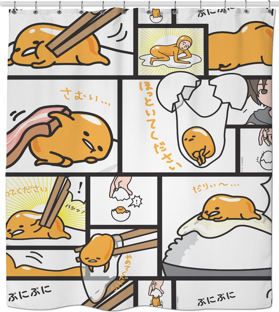 Gudetama Comic Shower Curtain