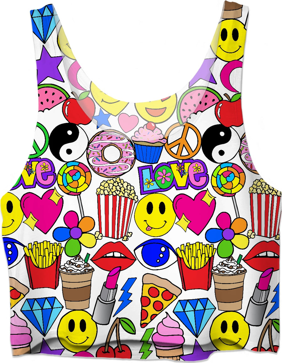 Emoji Love Crop Top