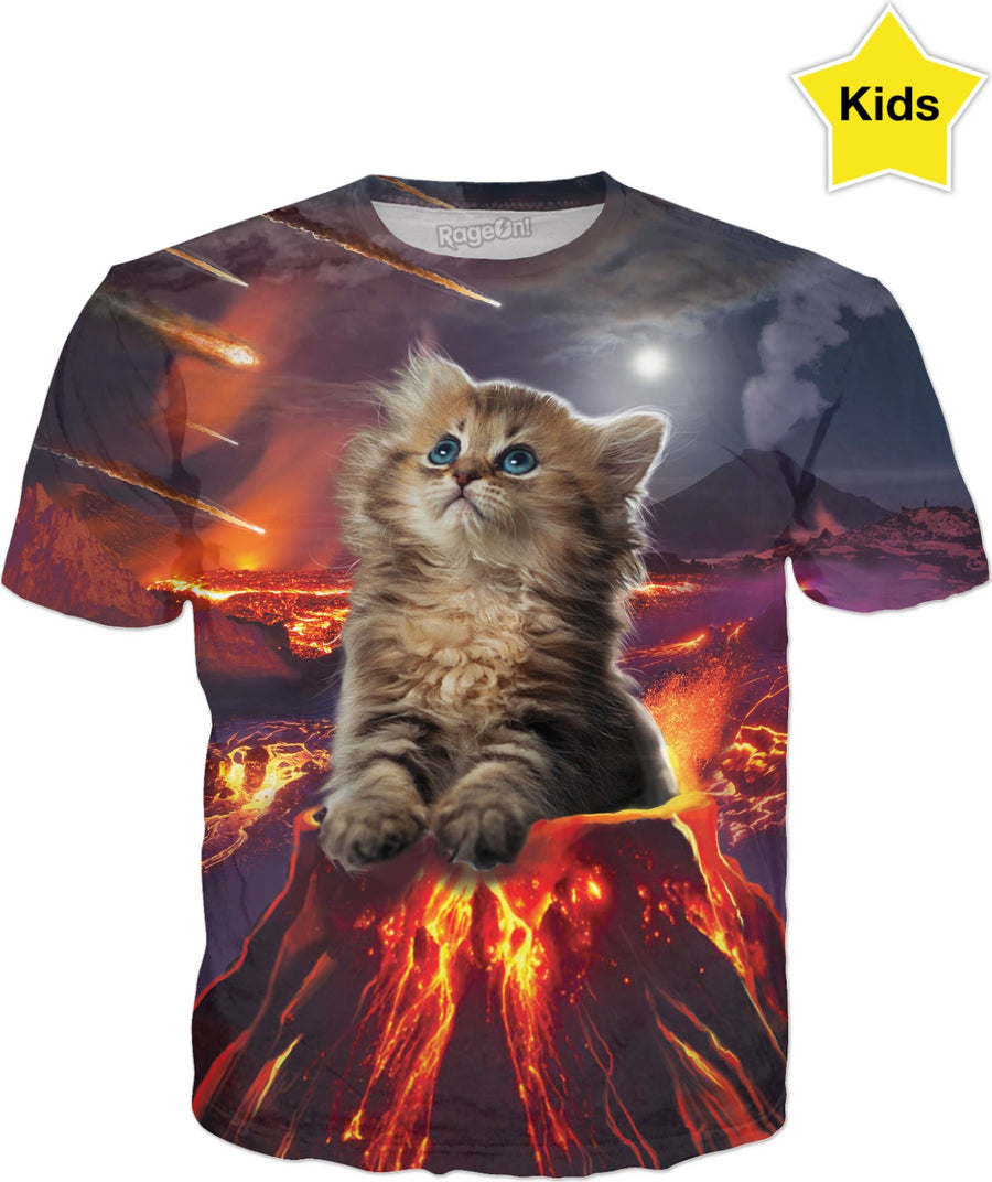 Kitten Eruption Kids T-Shirt