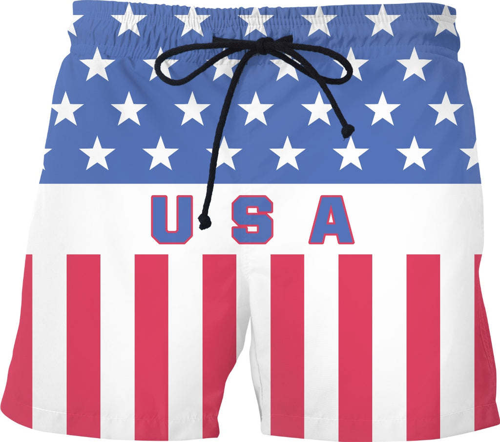 USA Vintage Swim Shorts