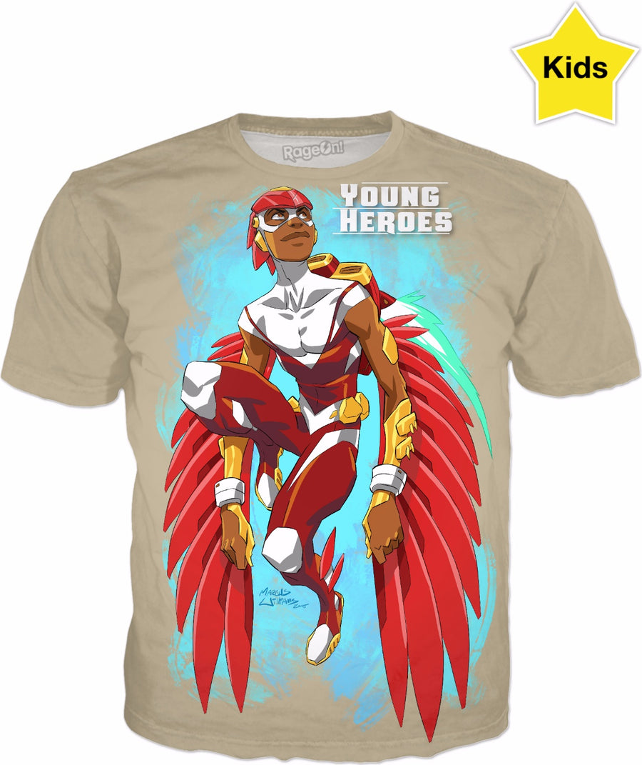 Young Heroes: Unlimited (Limited Edition Kids Shirts)- Falcon