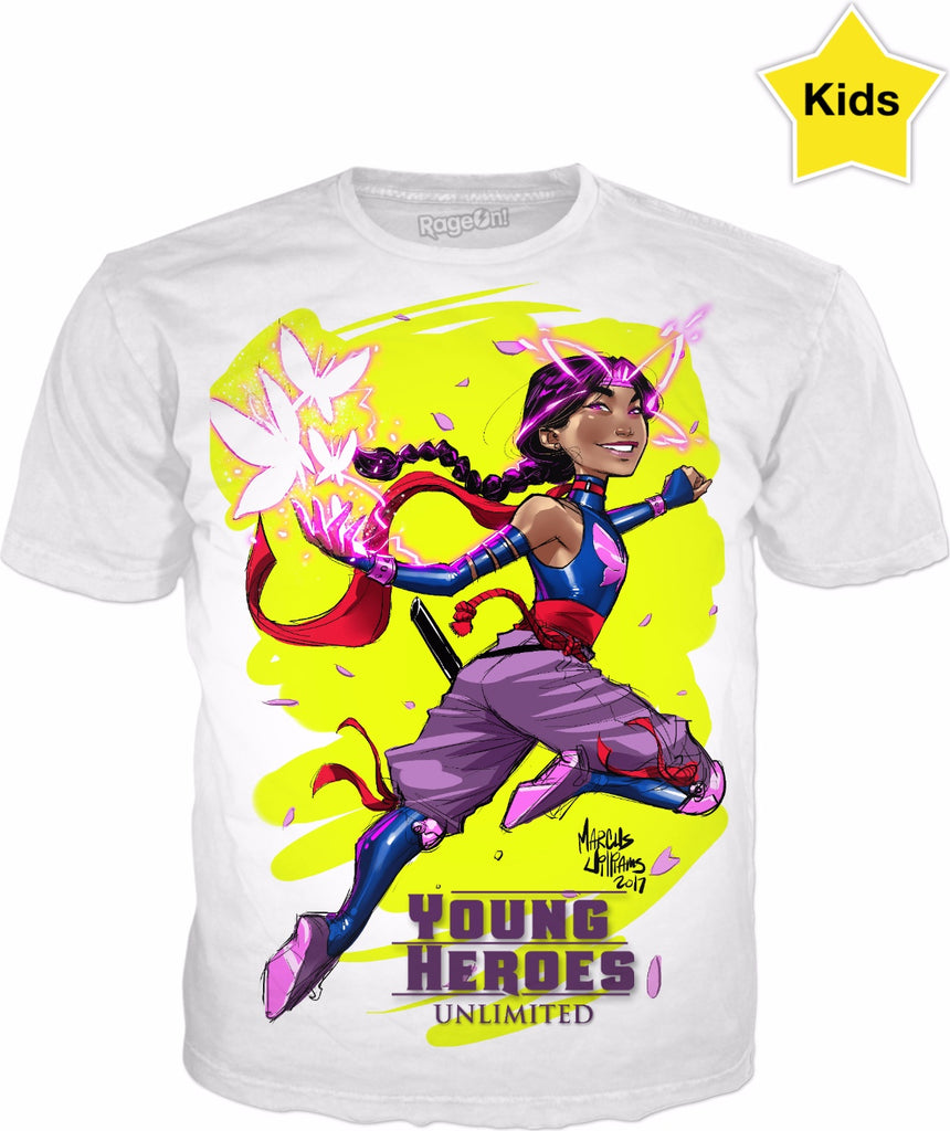 Young Heroes: Unlimited (Limited Edition Kids Shirts)- Psylocke