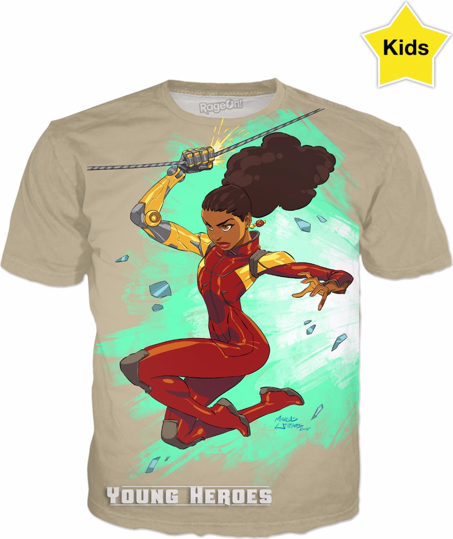 Young Heroes: Unlimited (Limited Edition Kids Shirts)- Misty Knight