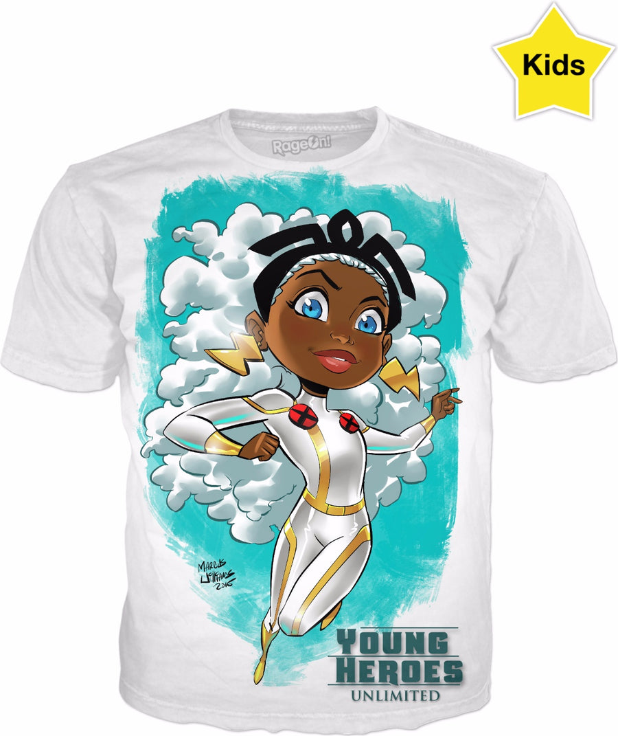 Young Heroes: Unlimited (Limited Edition Kids Shirts)- Storm