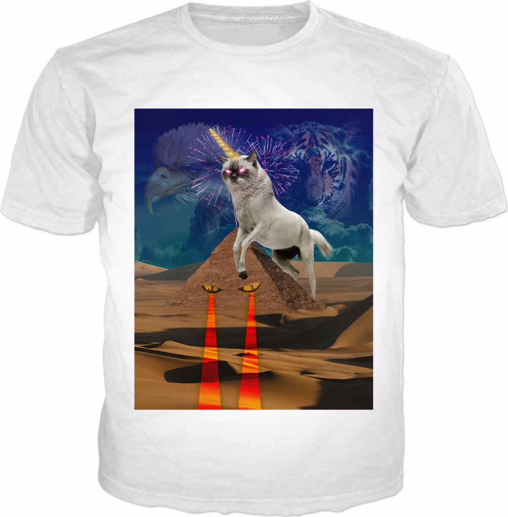 Super Cat Unicorn Protecting The Pyramids Classic T-shirt