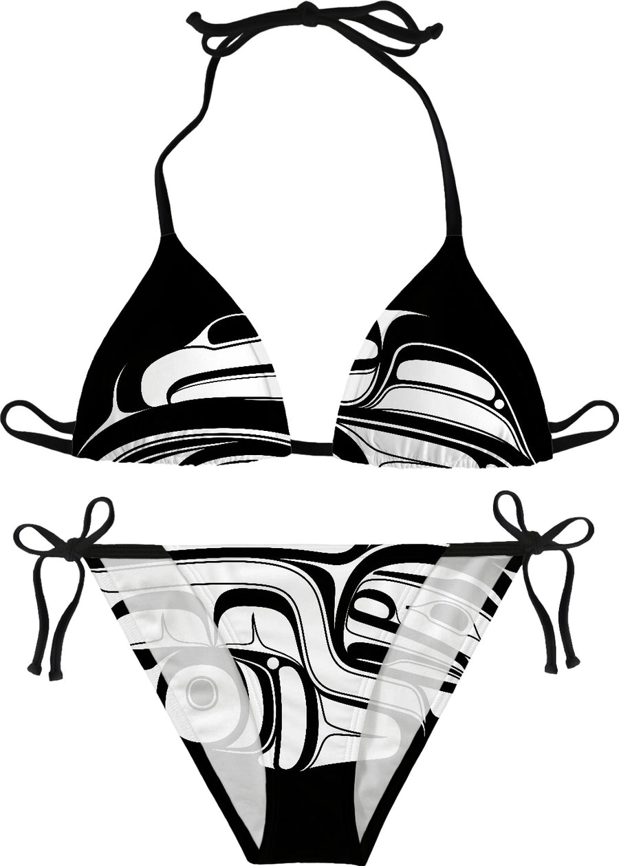 White on Black Raven Bikini