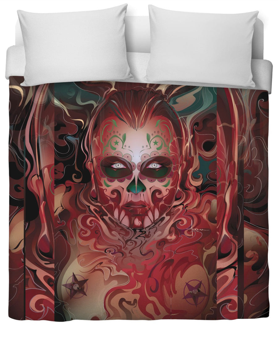 Day of The Dead Duvet Cover by Mexifunk