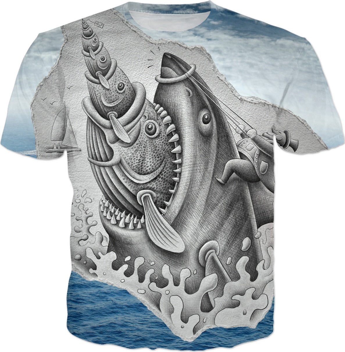 Pencil Vs Camera - Shark T-shirts and Clothes