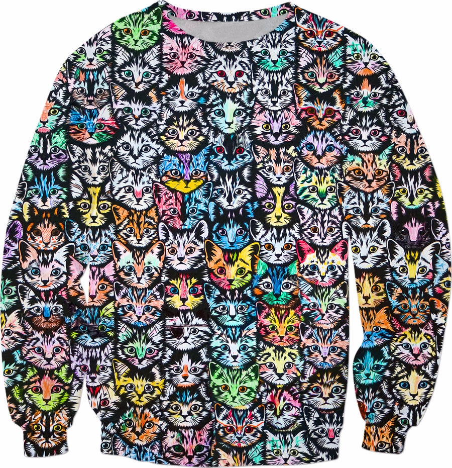 Cat faces RageOn Sweatshirt