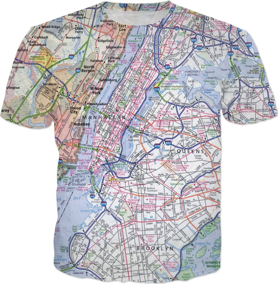 New York City Map T-Shirt