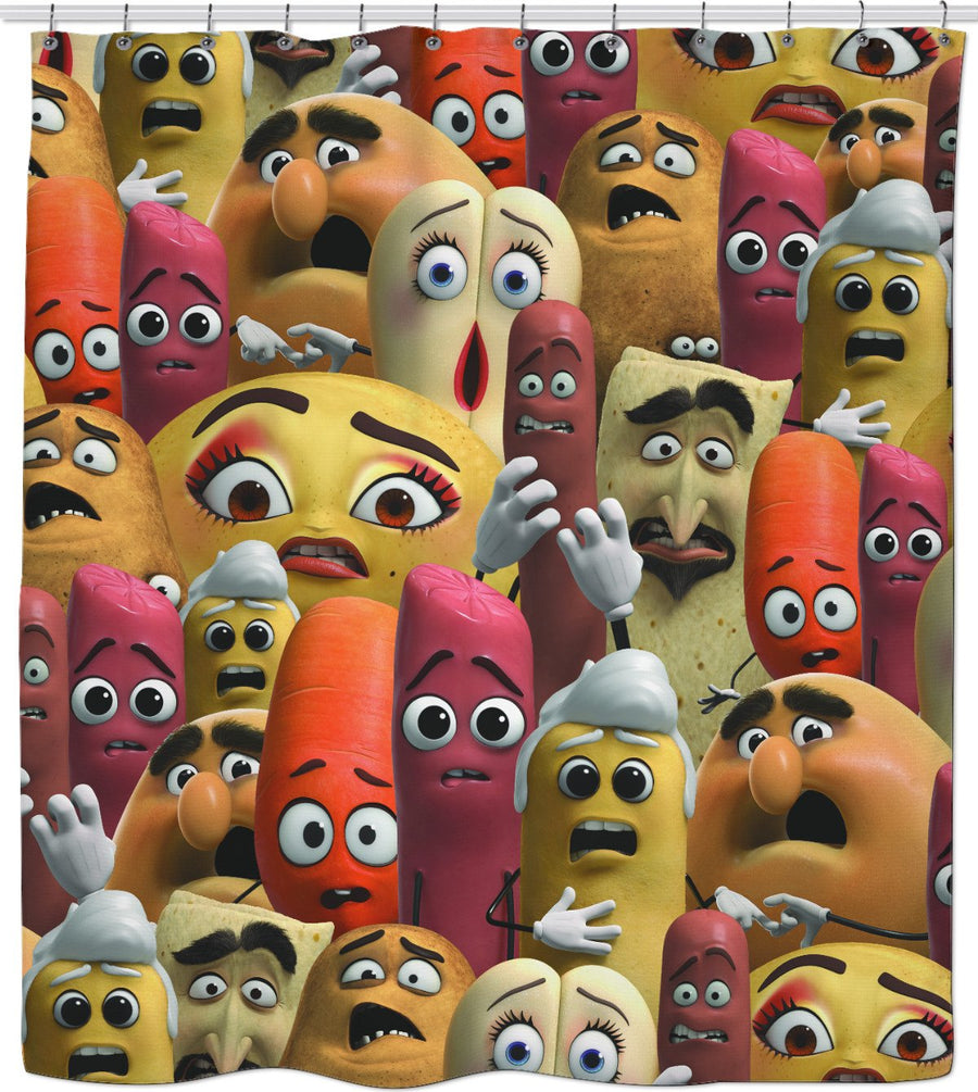 Sausage Party Shower Curtain