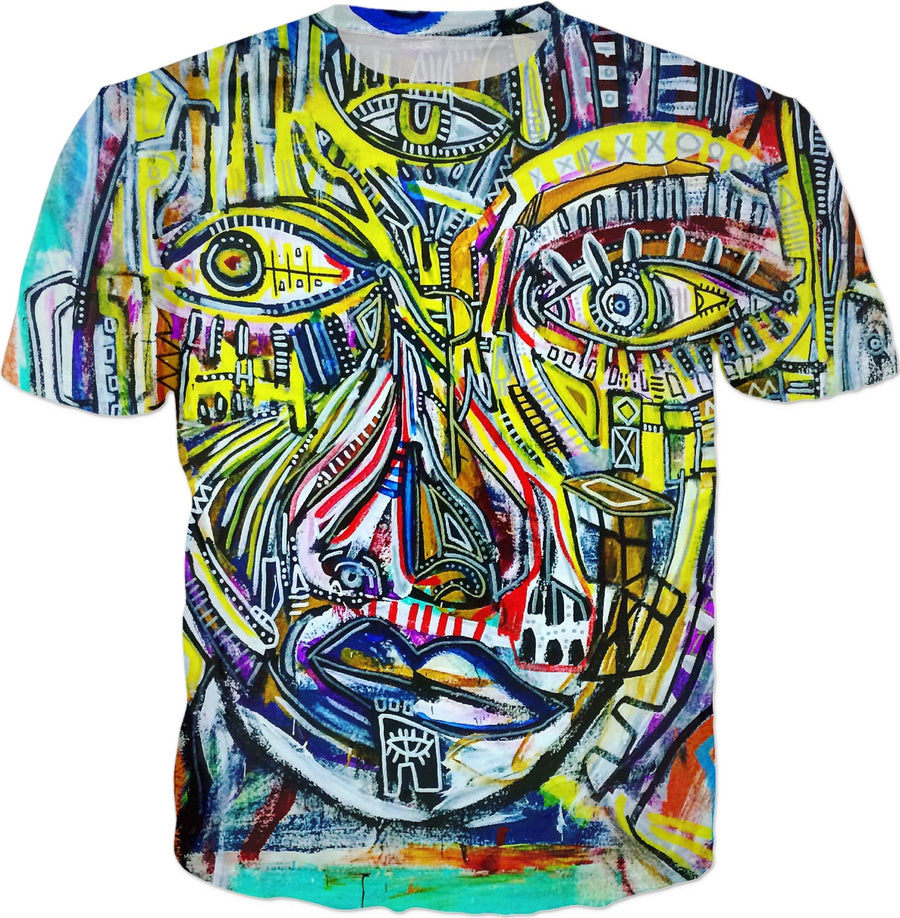 """3 Eyes"" Men Painting fine art T-shirt"