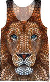 Lion Face - Pointillism - Art by Ben Heine. Tank tops and Clothes