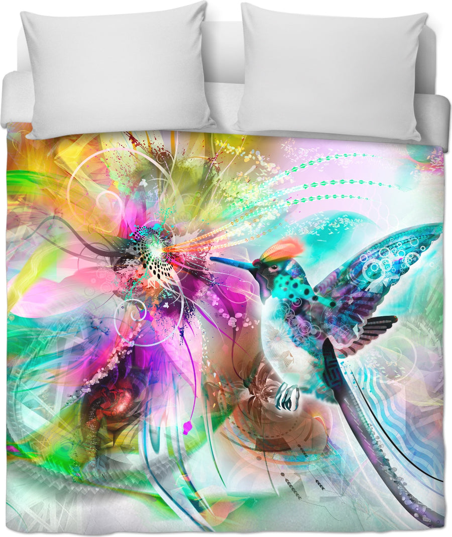 Hummingbird Custom Duvet Cover