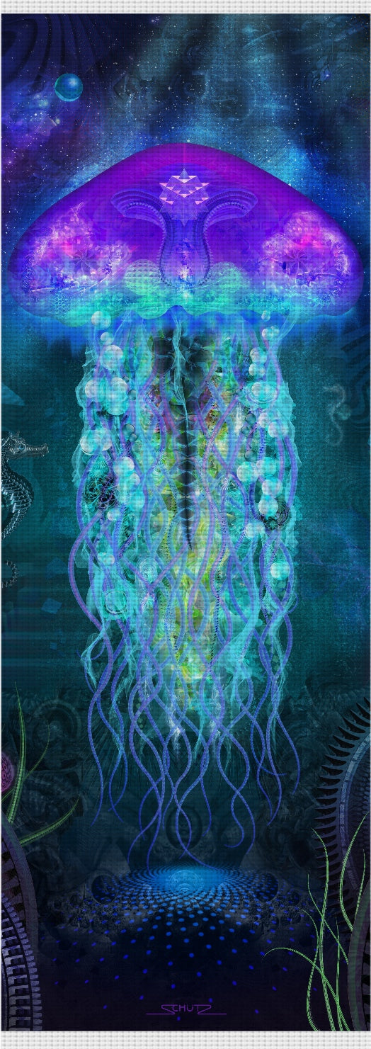 Luminescent Jellyfish Custom Yoga Mat