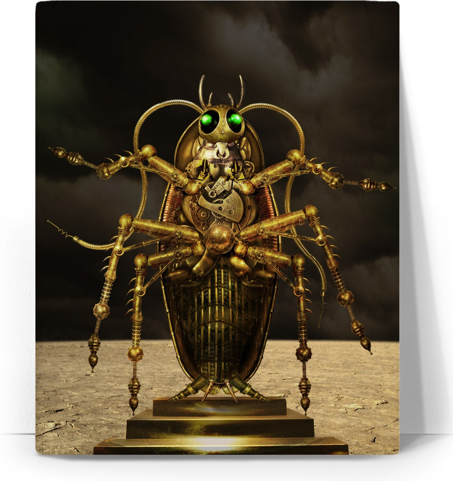 Steampunk Cockroach Custom Canvas