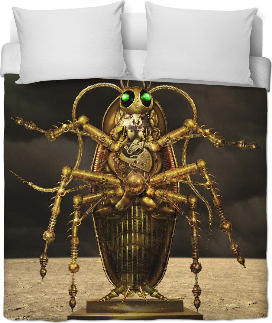 Steampunk Cockroach Custom Duvet Cover