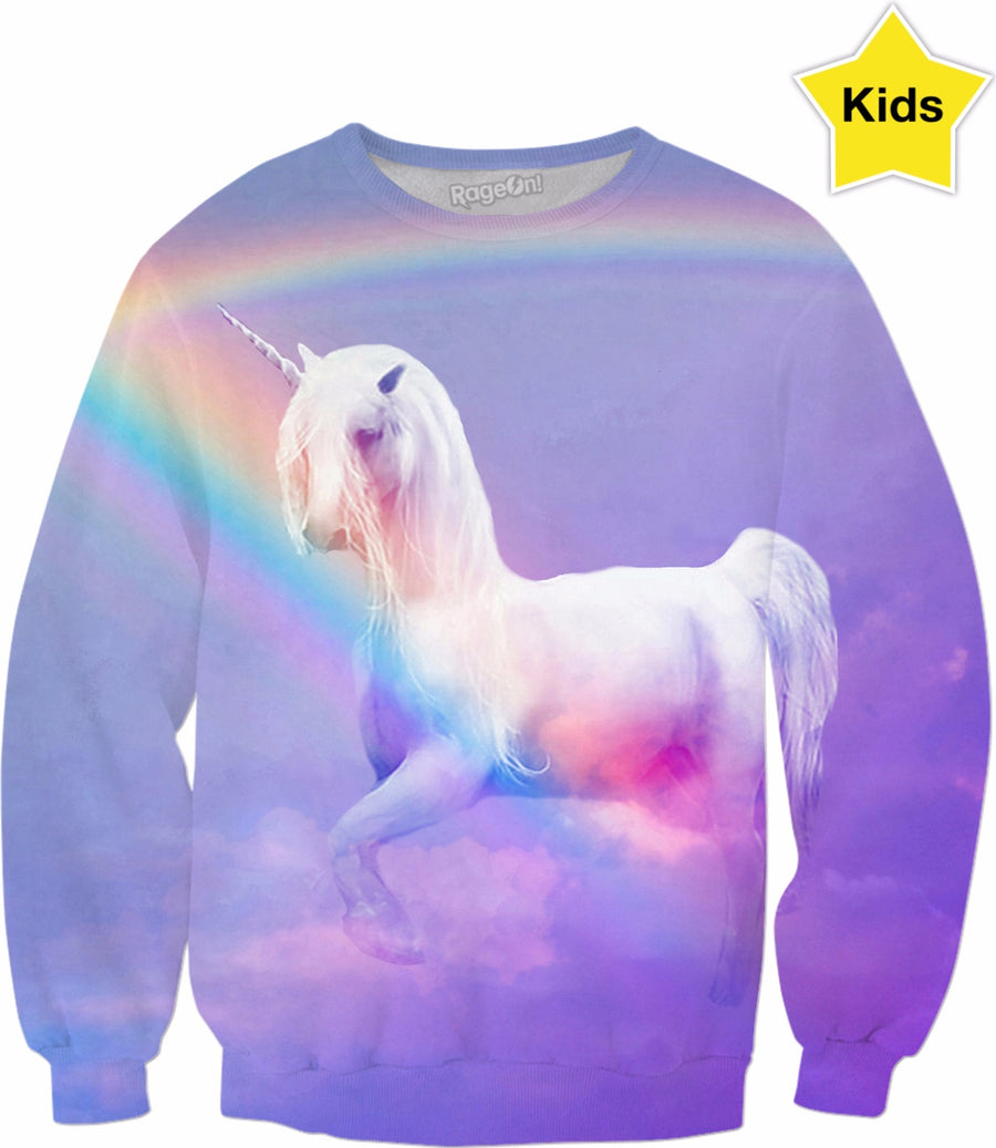 Unicorn and Rainbow Kids Sweatshirt