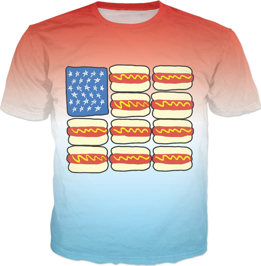 Hot Dog Flag T-Shirt