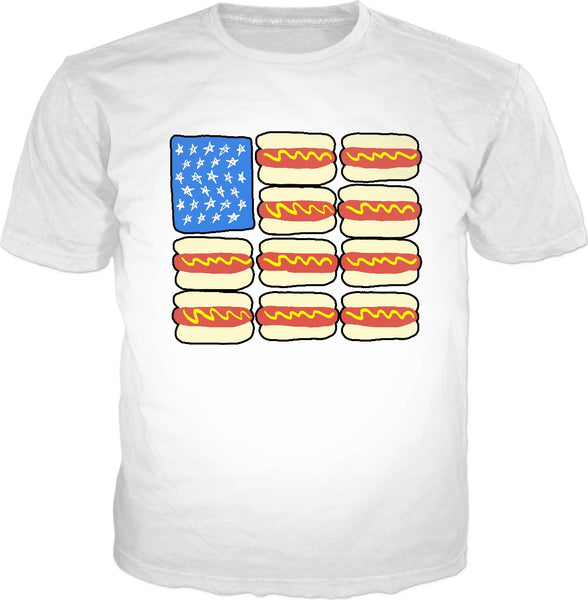 Hot Dog Flag Classic T-Shirt