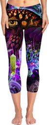 Enchanted Third Eye Mushroom Custom Yoga Pants