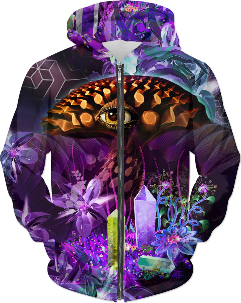 Enchanted Third Eye Mushroom Custom Hoodie