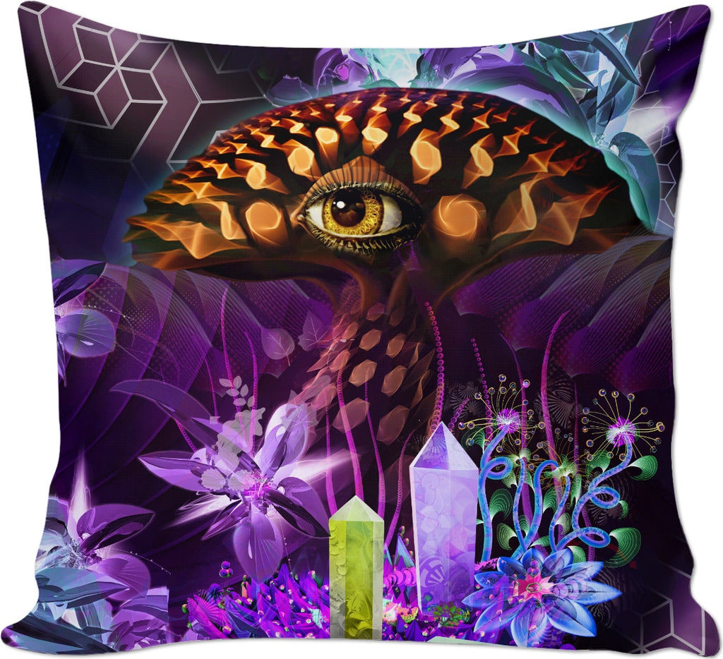 Enchanted Third Eye Mushroom Custom Couch Pillow