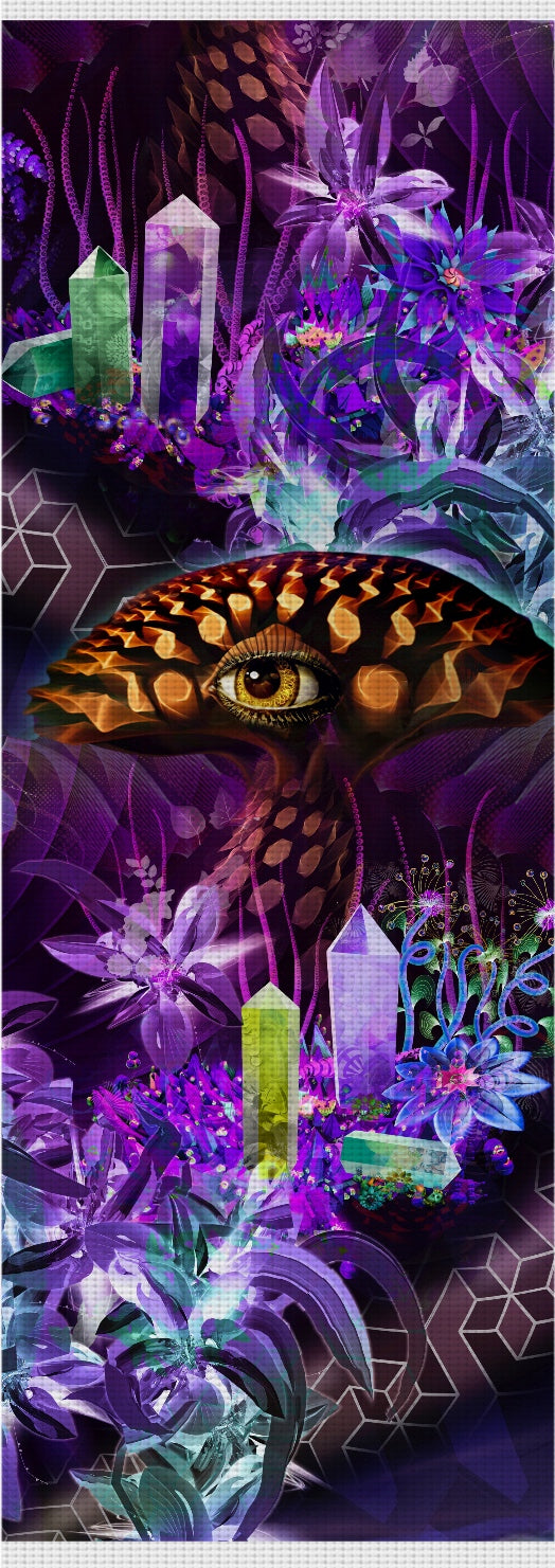 Enchanted Third Eye Mushroom Custom Yoga Mat
