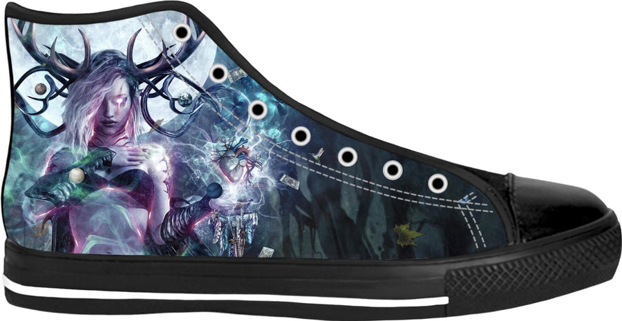 The Dreamcatcher - Black High Top Shoes