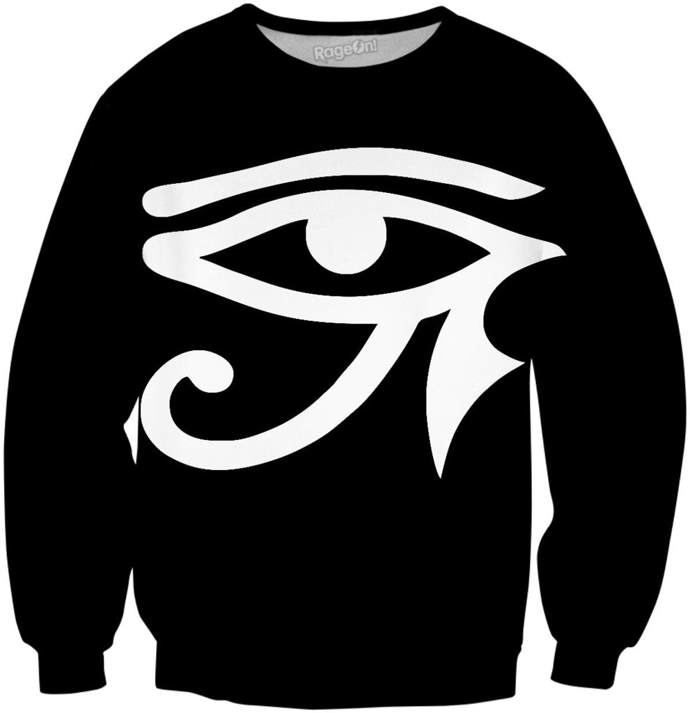 Black and White Eye of Horus Sweatshirt