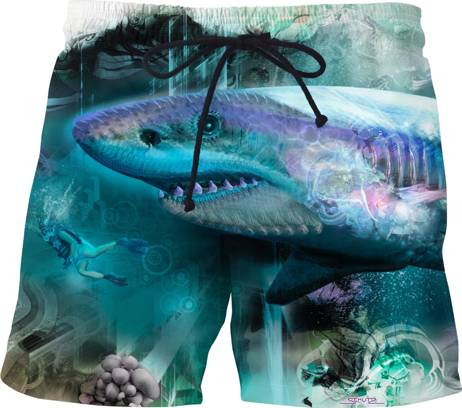 #SharkWeekContest Megalodon Custom Swim Shorts