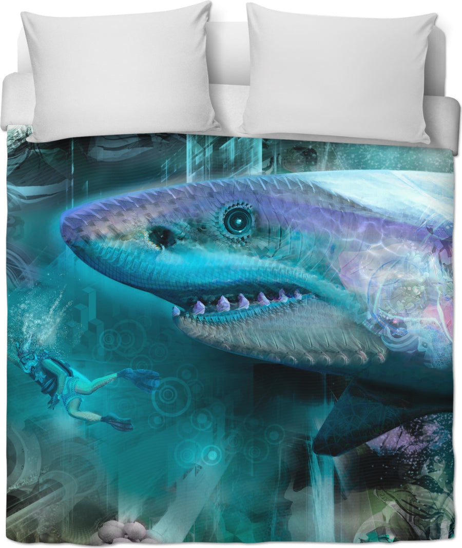 #SharkWeekContest Megalodon Custom Duvet Cover