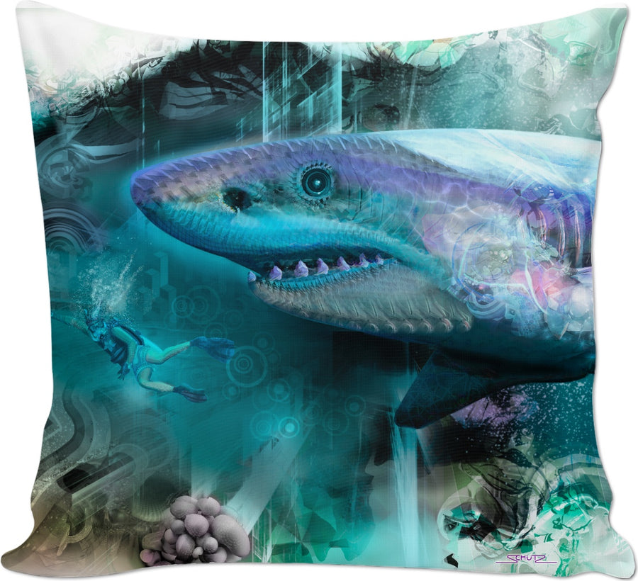 #SharkWeekContest Megalodon Custom Couch Pillow