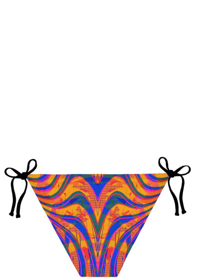 Blue and Orange 90s Abstract Bikini