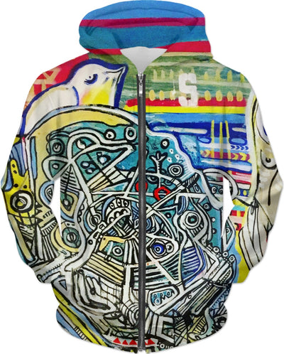Disassembled Painting On A Hoodie By Antovitko