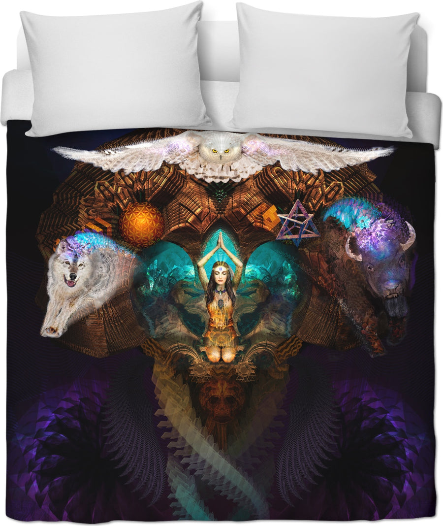 Calling The Spirit Animals Custom Duvet Cover