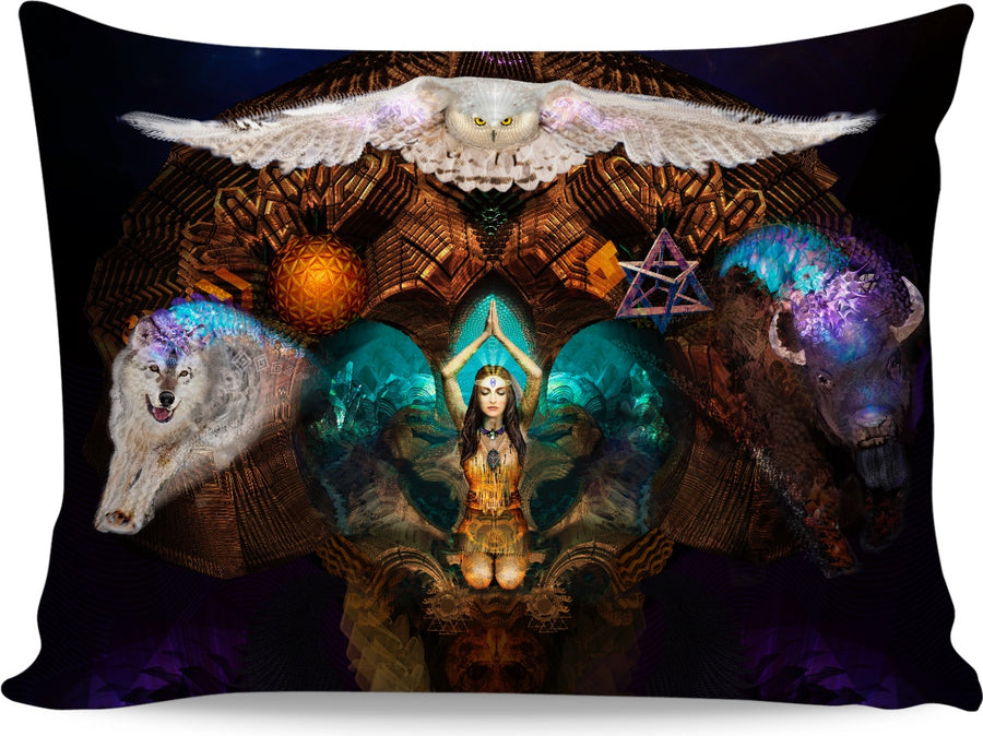 Calling The Spirit Animals Custom Pillow Case