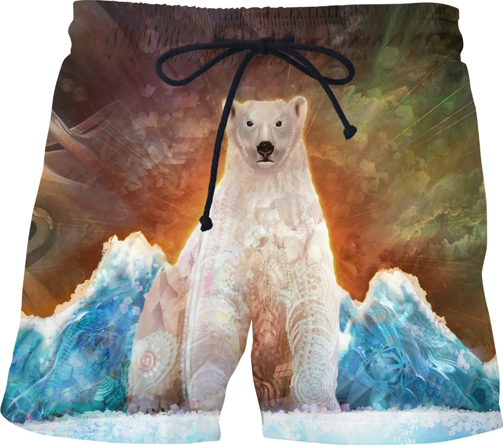 Stranded Polar Bear Custom Swim Shorts