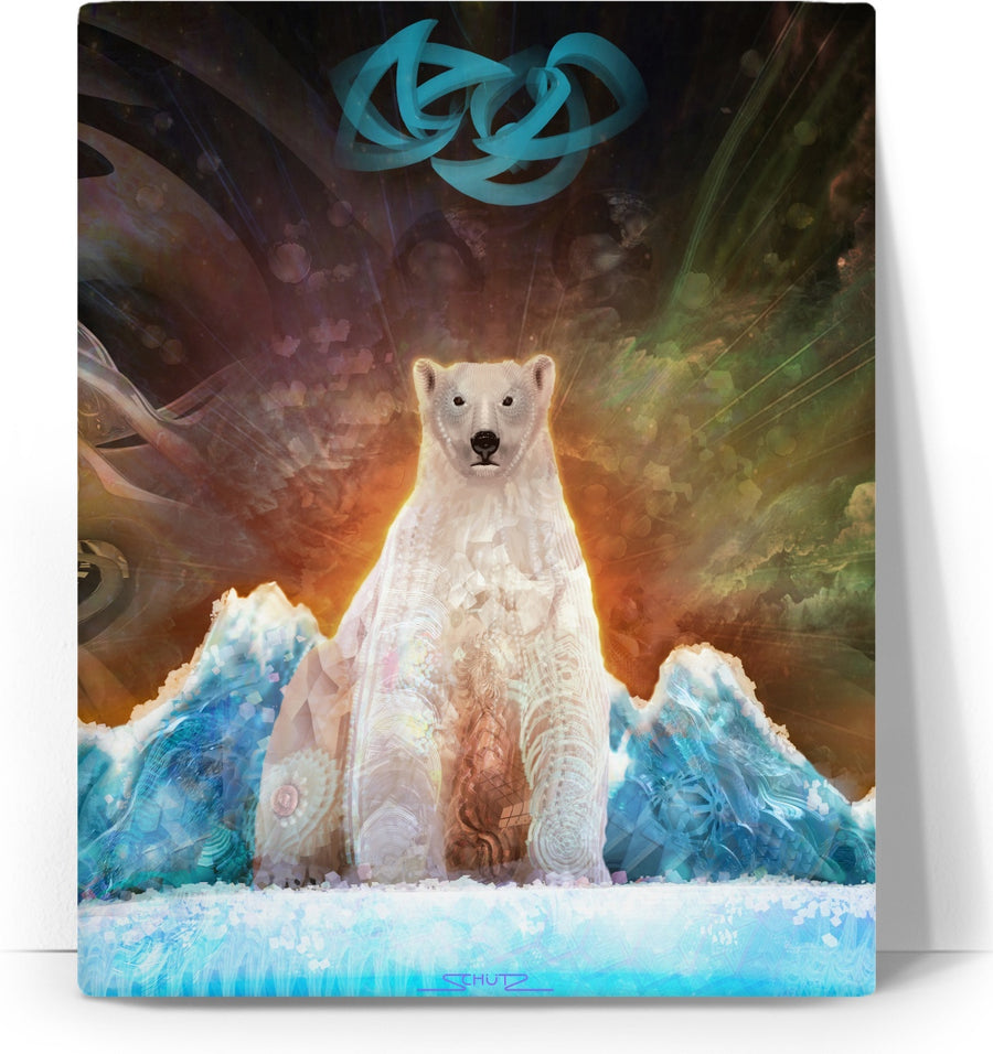 Stranded Polar Bear Custom Canvas