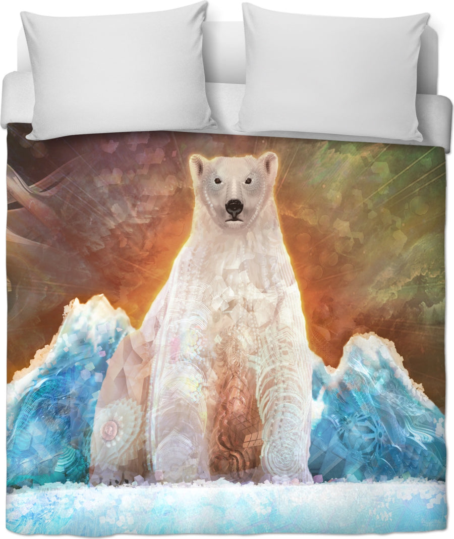 Stranded Polar Bear Custom Duvet Cover